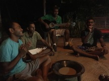 Cava circle in Fiji with the natives